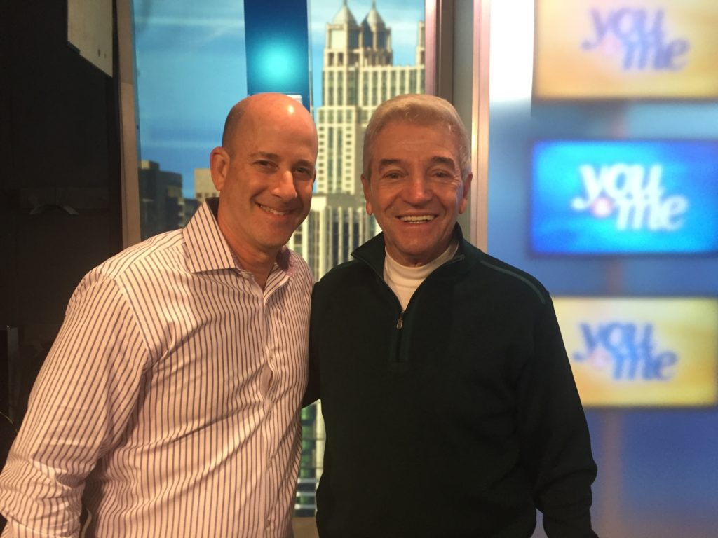 with comedian Tom Dreesen